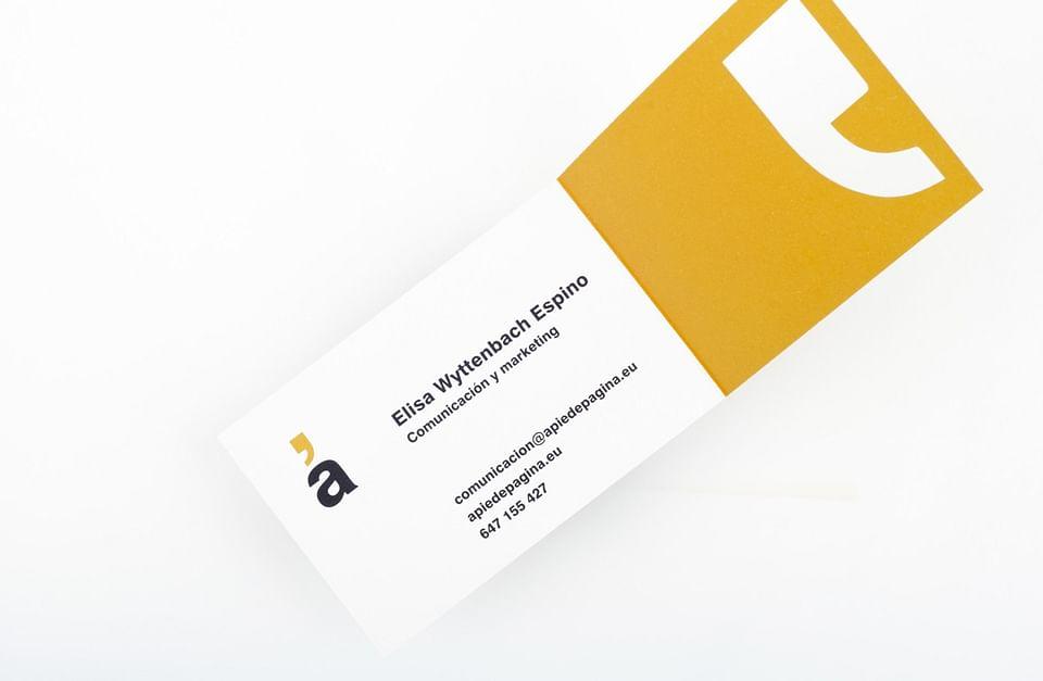 Website design and brand identity for Apiedepágina