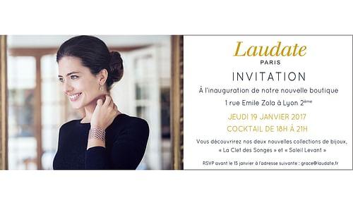 Inauguration de la boutique Laudate - Evénementiel