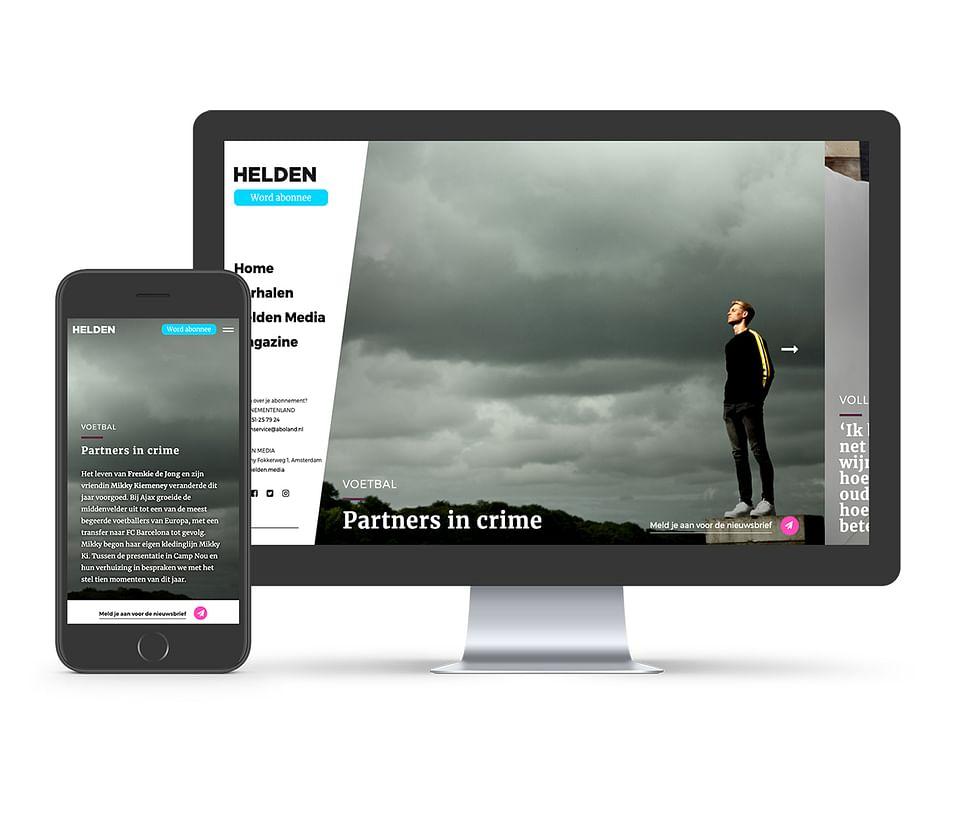 Helden Media website