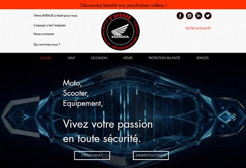 Site pour une concession Honda à Villejuif - Création de site internet