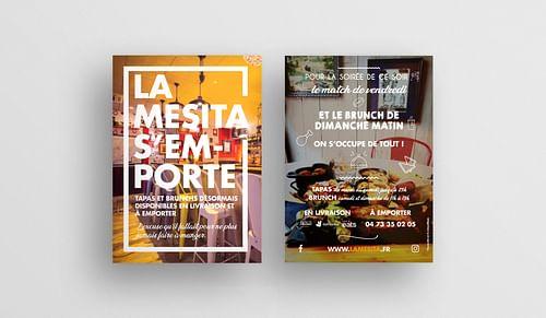 Supports promotionnels pour un restaurant - Design & graphisme