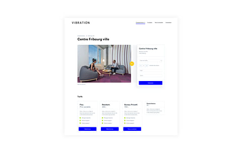 eCommerce Design for Coworking Space Vibration