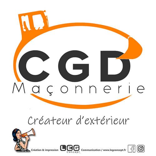 Logo CGD Maçonnerie - Design & graphisme