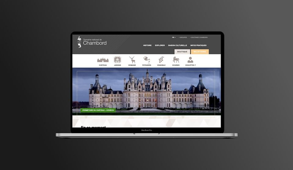 Domaine National de Chambord : WordPress,UX/UI,SEO