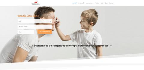 Uniconseil (Assurances) - Site web et Design