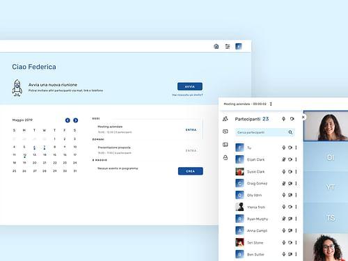 Voismart - UX/UI design webapp per conference call - Applicazione web