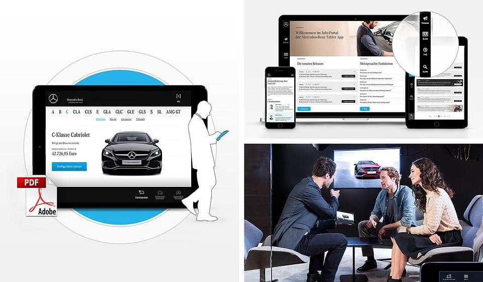 Mercedes-Benz E-Learning Plattform Sales Tablet...
