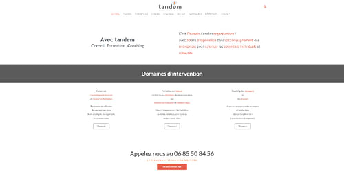 Site vitrine société de formation - Création de site internet