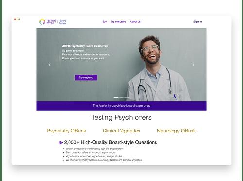 Testingpsych - Web Application