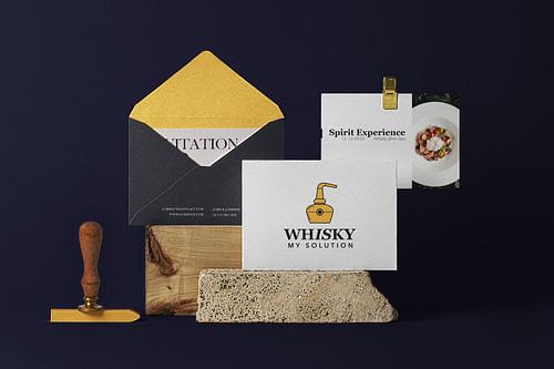 Branding Whisky my Solution - Design & graphisme