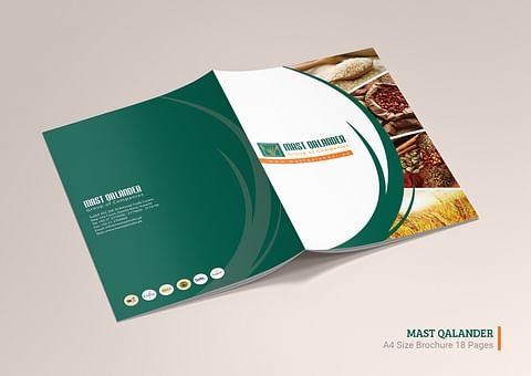 Company Profile Design for Mast Qalander