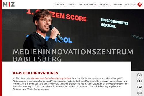 Relaunch Medienanstalt Berlin Brandenburg (MIZ) - Webseitengestaltung