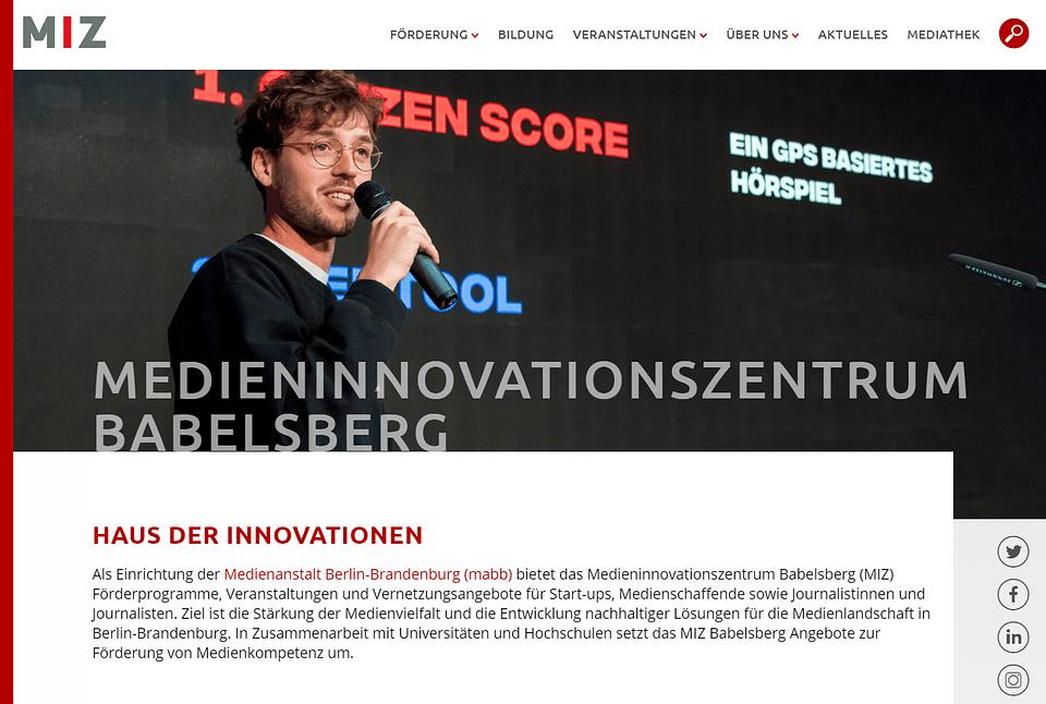 Relaunch Medienanstalt Berlin Brandenburg (MIZ)