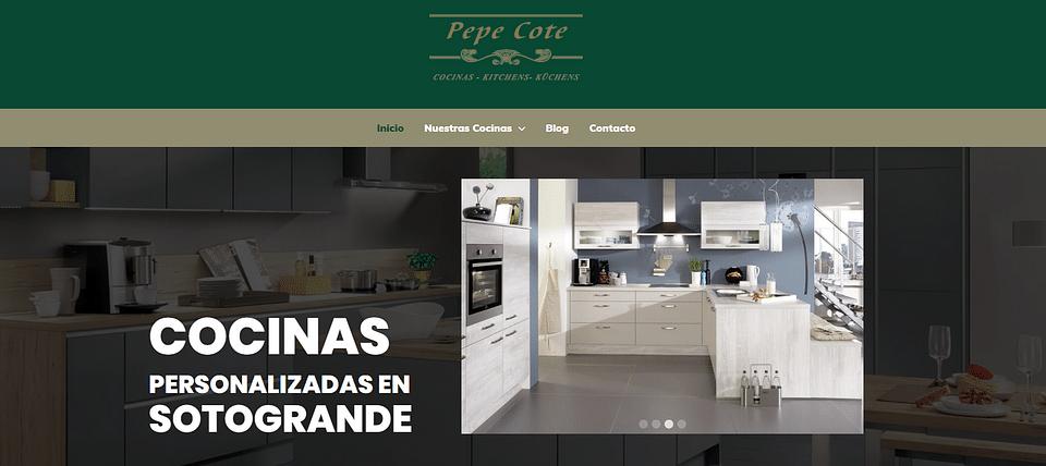 Webiste de Cocinas Cote S.L. / www.pepecote.com