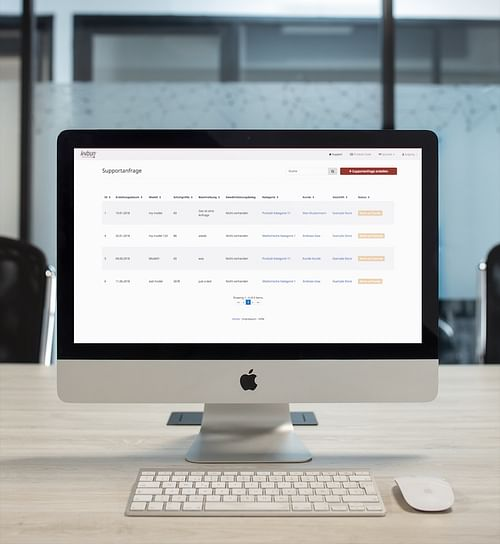 kybun Kundensupport - Webanwendung