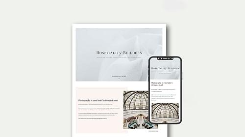 Web Responsive a medida para Hospitality Builders - Branding y posicionamiento de marca