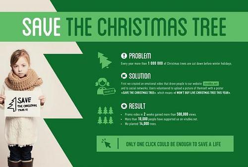 SAVE THE CHRISTMAS TREE - Advertising