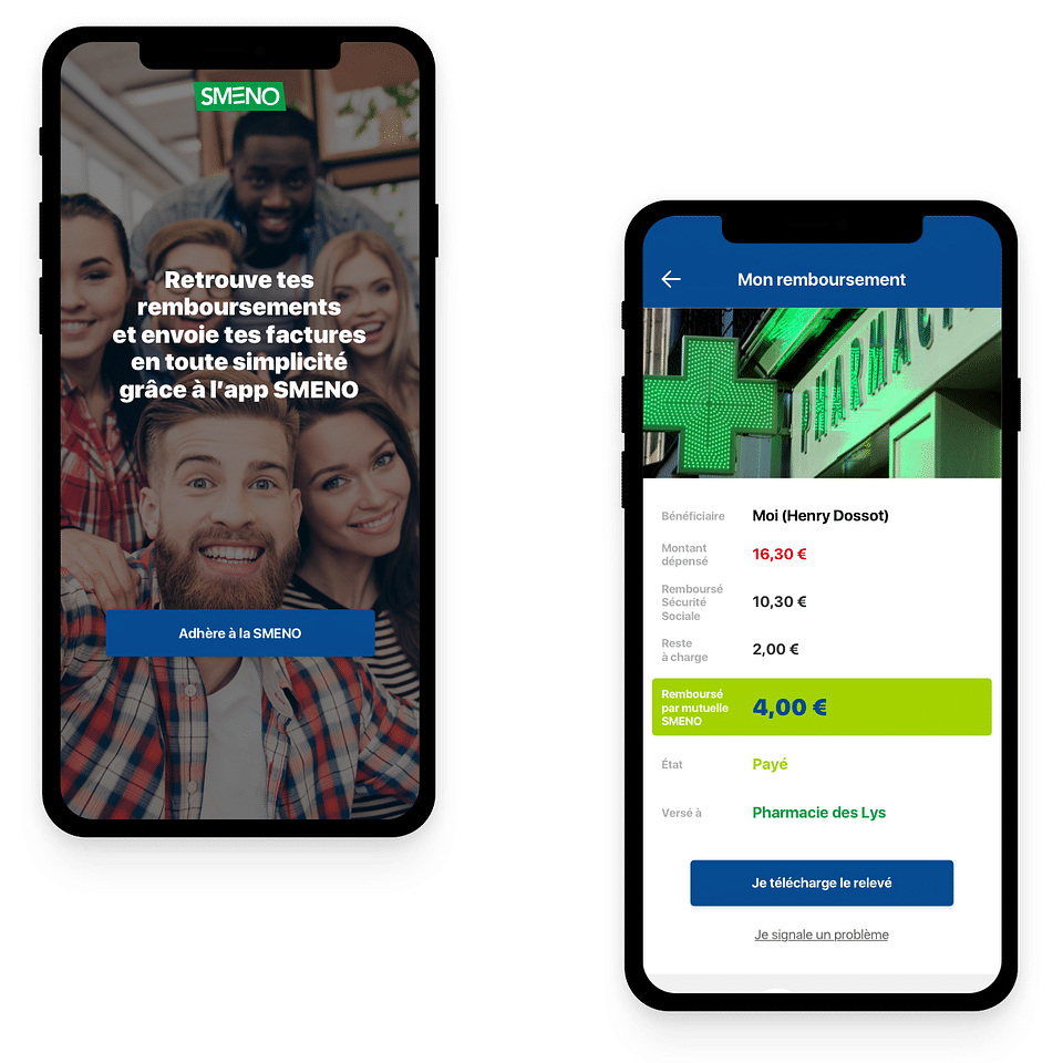 Application mobile Smeno