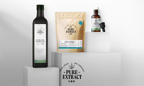 🌱 Pure Extract CBD: Branding, Packaging, UI/UX - Création de site internet