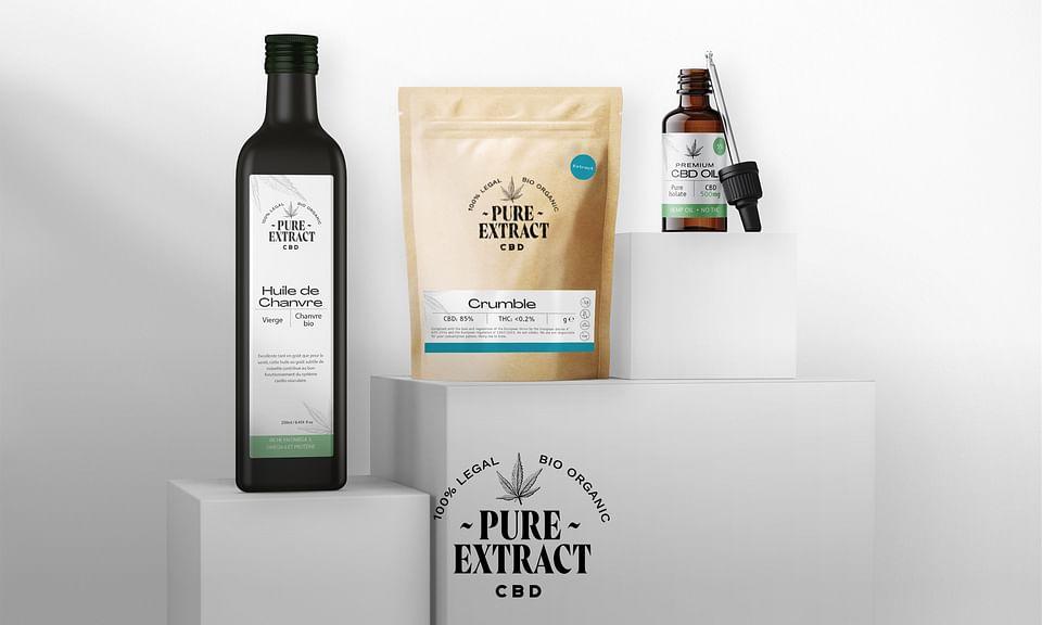 🌱 Pure Extract CBD: Branding, Packaging, UI/UX