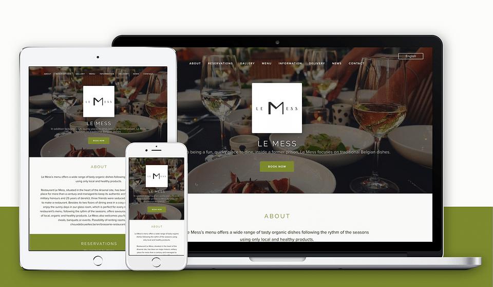 Création du site Internet pour Restaurant
