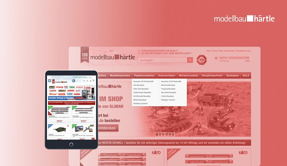 Aufbau- & Ausbau B2C Onlineshop