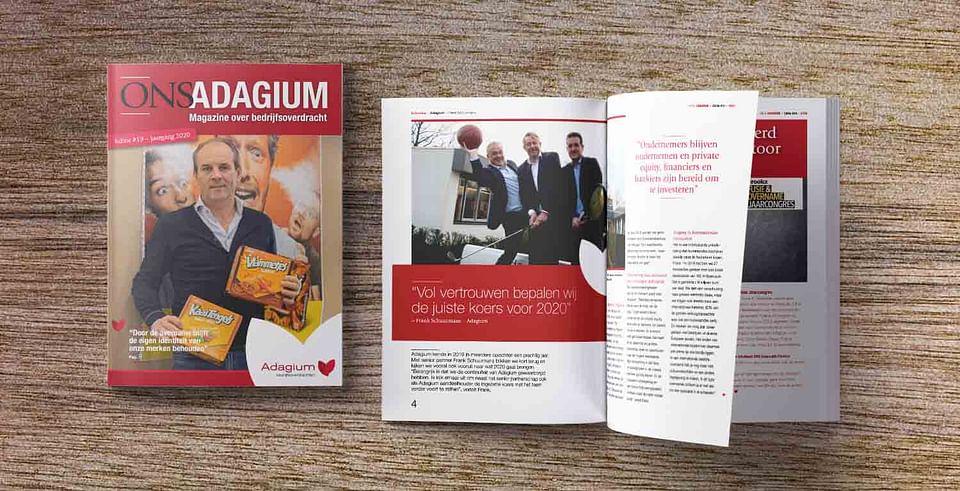 Relatiemagazine voor Adagium Bedrijfsoverdrachten