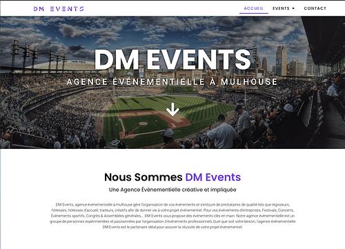 Site internet DM Events - Création de site internet