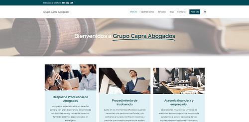 Sitio web Grupo Capra Abogados - Creación de Sitios Web