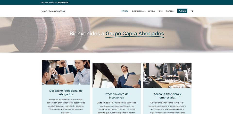 Sitio web Grupo Capra Abogados