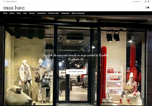 Webshop voor Must Have Knokke - Website Creatie