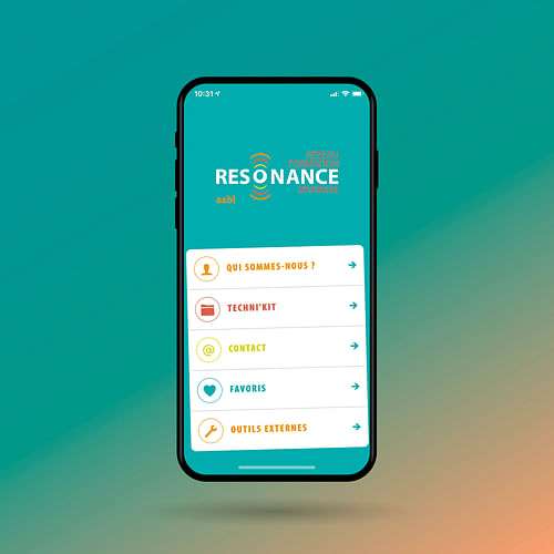 Application for Resonance - Application web
