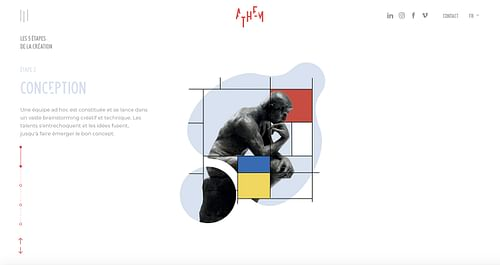 Athem - Conception et réalisation du site web - Design & graphisme