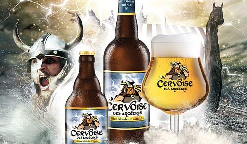 Cervoise - bière blonde de caractère - Design & graphisme