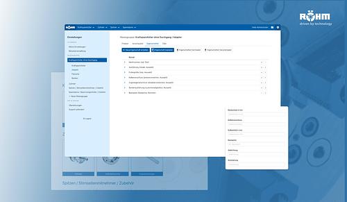 Vertriebs-App für Röhm - Webseitengestaltung