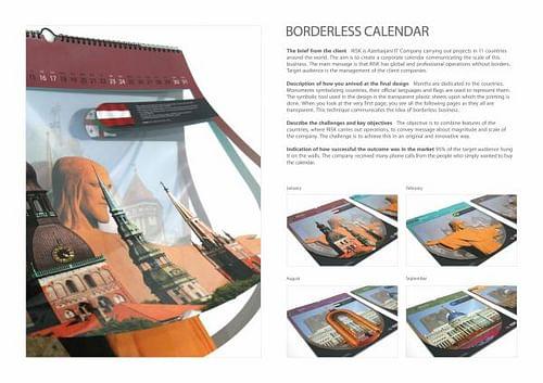 BORDERLESS CALENDAR - Publicidad