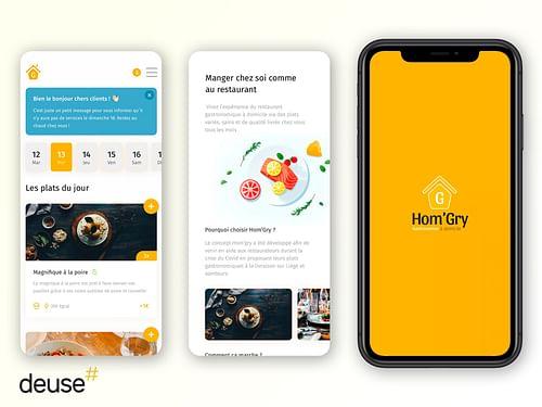 Application mobile de livraison de plat à domicile - Mobile App