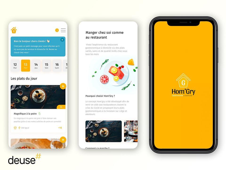 Application mobile de livraison de plat à domicile