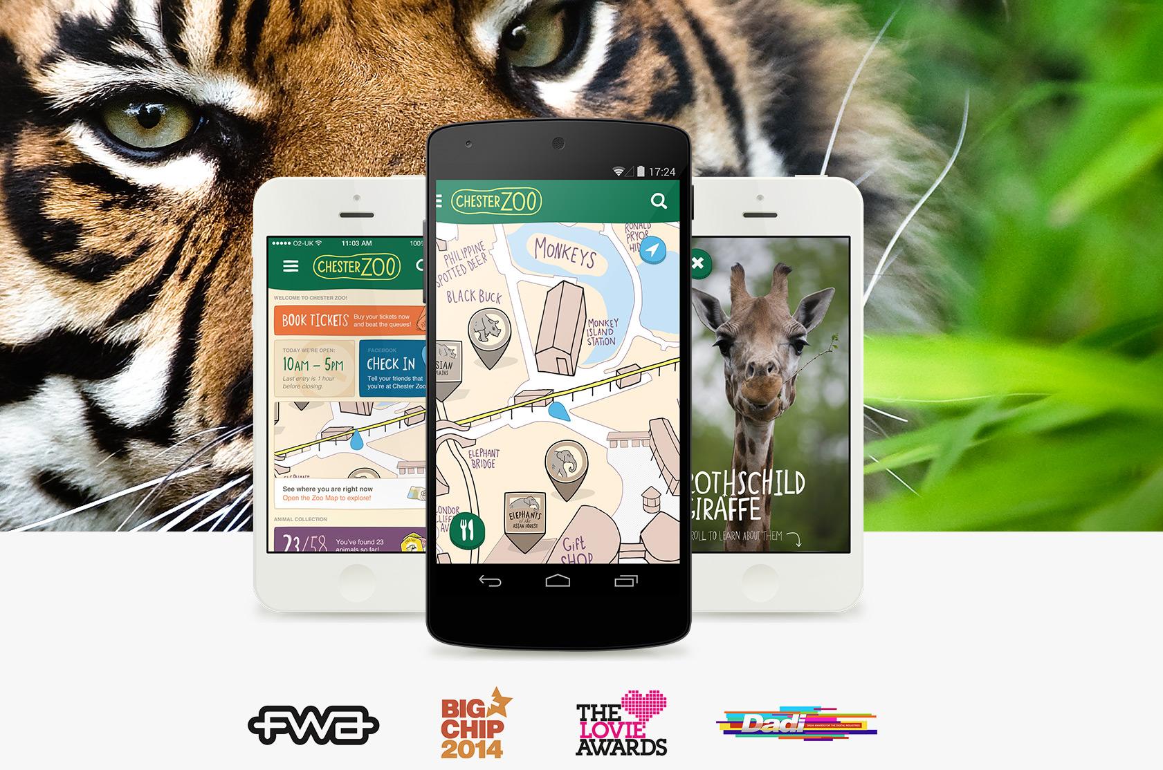 Chester Zoo A multi award-winning mobile app