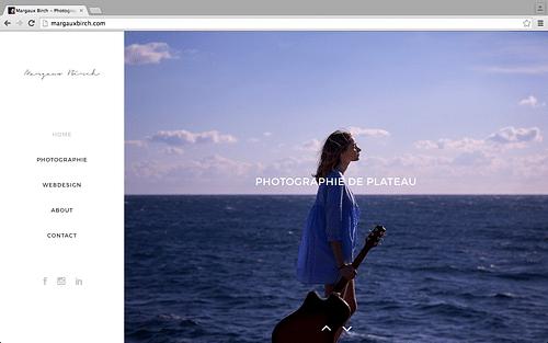 Website margauxbirch.com - Création de site internet