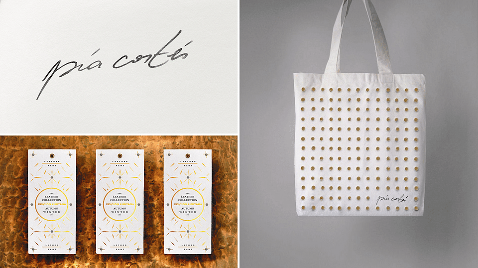 Branding and packaging for a luxury brand