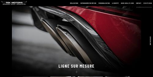 Amélioration Site Internet Tek Motors - Image de marque & branding