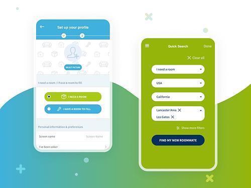 MySoberRoommate - Web & Mobile Room Renting App - Mobile App