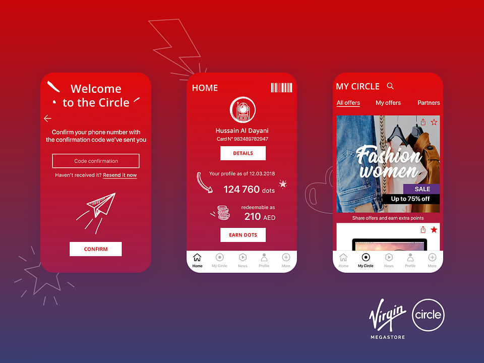 Virgin Megastore - Circle App (Loyalty Program)