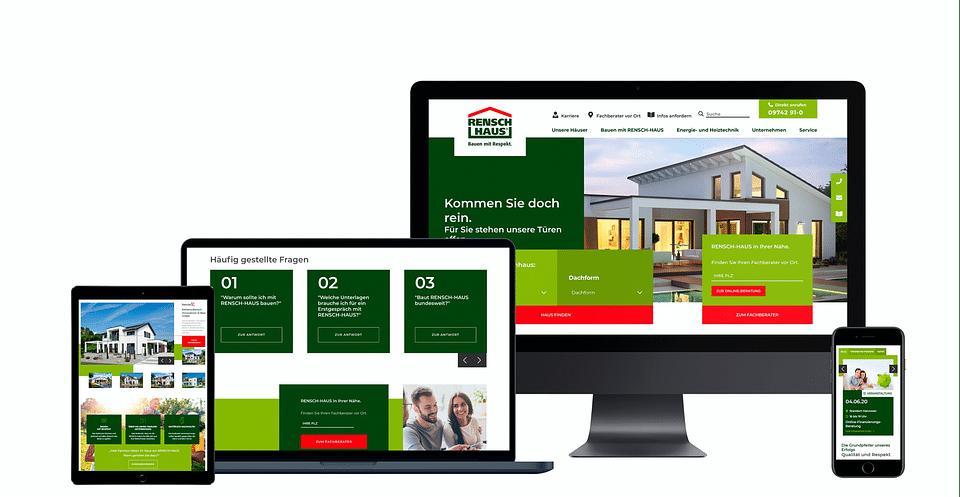 Corporate Website für RENSCH-HAUS