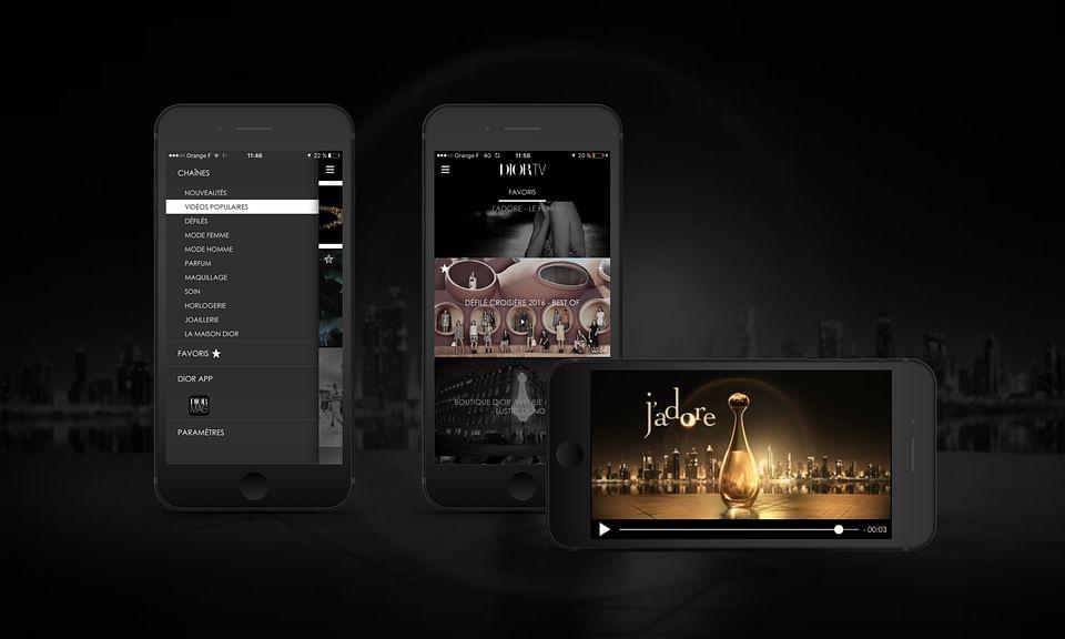 Dior TV - application vidéo