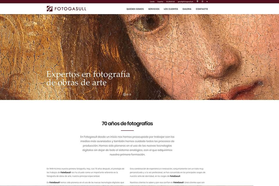 FOTOGASULL - Sitio web y SEO