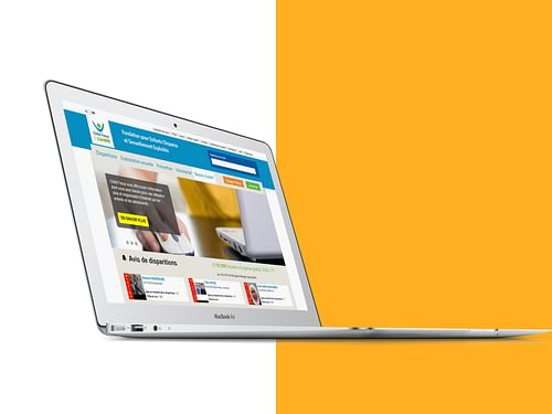 Nos réalisations avec Child Focus - Application web