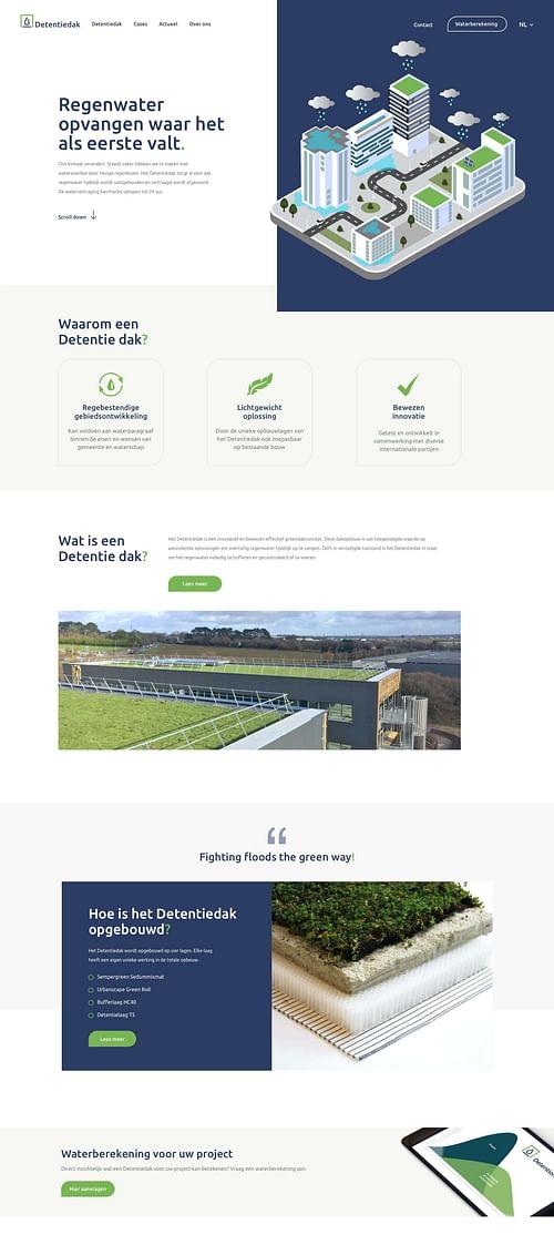 Webproject Detention Roof - Website Creatie
