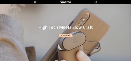 Shopify Shop für NBERG - Webseitengestaltung